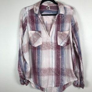 3/$20 Mudd Flannel Popover Top Siez XL